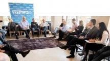 ראשי מפלגת כחול לבן במפגש עם ראשי התאחדות חקלאי ישראל | צילום: שריה דיאמנט