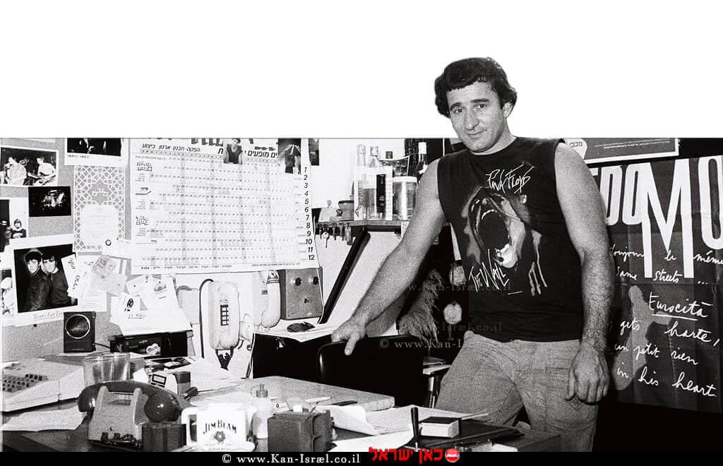 המפיק שוקי וייס בימי קולנוע דן | צילום: מיכאל רורברגר | עיבוד צילום: שולי סונגו