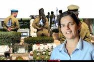 עורכת הדין סיגל יעקבי האפוטרופסה הכללית ברקע קברי חיילים שנפלו במערכות ישראל | עיבוד צילום: שולי סונגו©