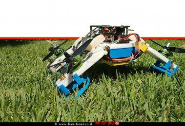 רובוט-רחפן Flying STAR חדש המנווט דרכו בתעופה ונסיעה משולבת שבנו חוקרים מאוניברסיטת בן-גוריון   צילום: אוניברסיטת בן-גוריון בנגב