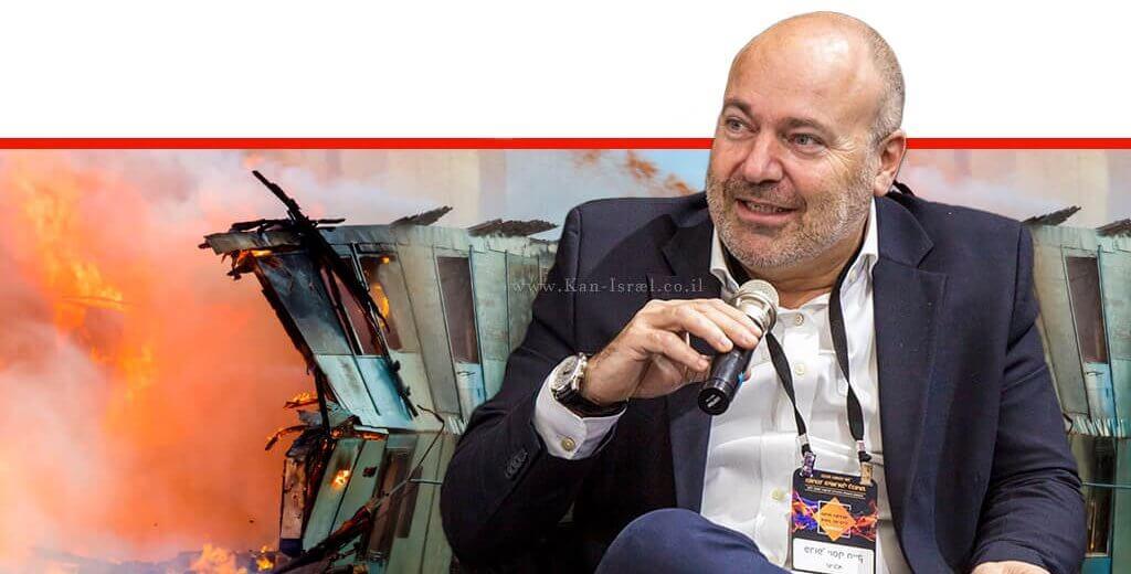 פרופ' יוסי חייק חבר האיגוד הישראלי לכוויות באיגוד לכירורגיה פלסטית | רקע: דליקה | צילום: נמרוד ארונוב| עיבוד: שולי סונגו