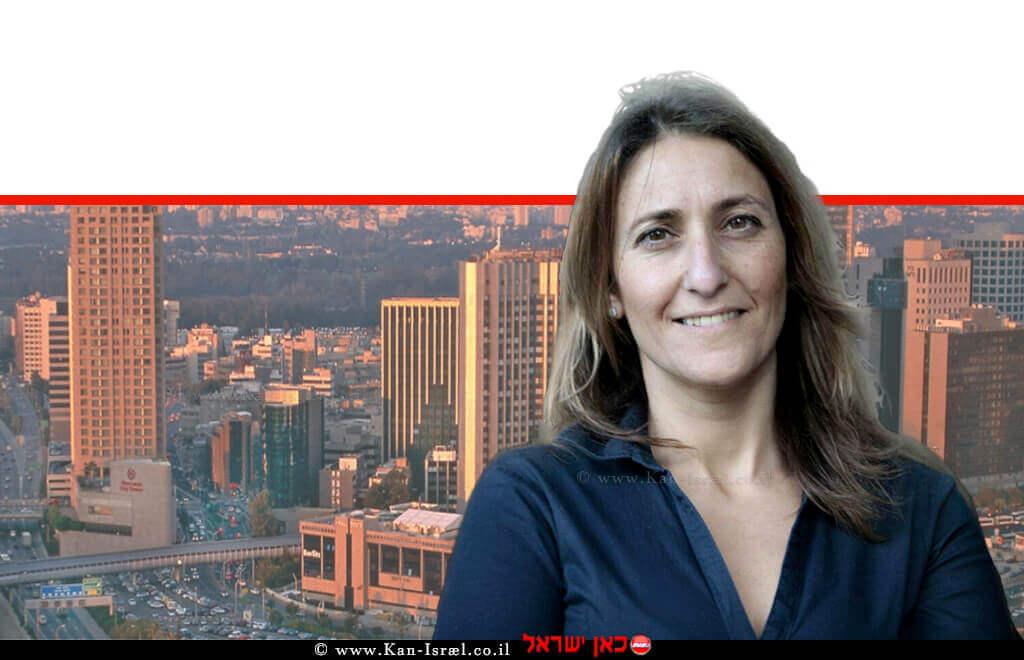 אינג'ינר סיגל חורש, מהנדסת העיר רמת גן ברקע: בניינים בעיר | צילום: עופר וקנין מדף הפייסבוק | עיבוד: שולי סונגו