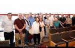 חברי מועצת העיתונות בישראל שהשתתפו בסיור בצפת ראשון, משמאל הפרופ' מוחמד וותד | צילום: יוני לובלינר |עיבוד צילום: שולי סונגו