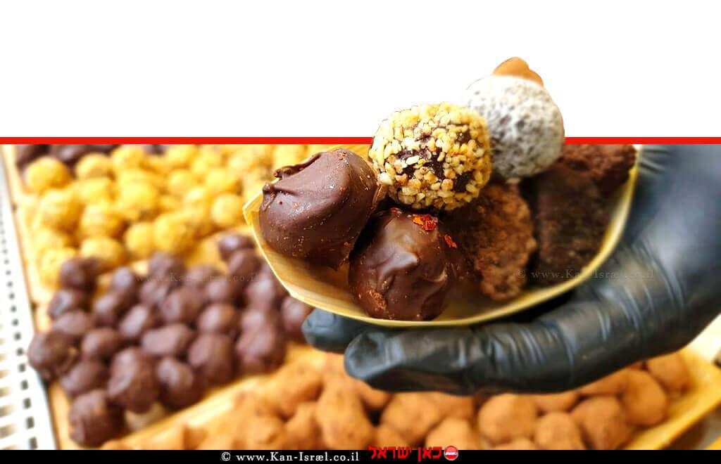 דברי מתיקה ושוקולד בפסטיבל האוכל הטבעוני הראשון בצפון הארץ בקיבוץ בית אלפא | עיבוד צילום: שולי סונגו ©