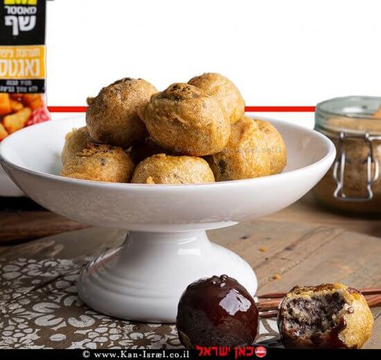 כדורי שוקו צי'פס מטוגנים של המותג מאסטר שף   צילום: שני הלוי  עיבוד צילום: שולי סונגו ©