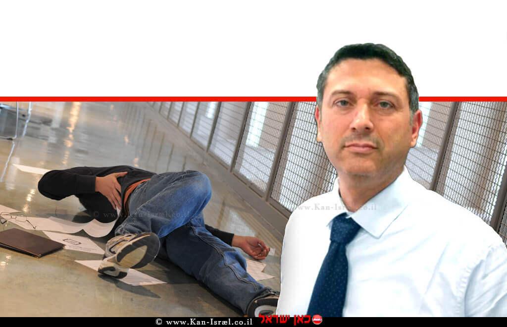 גיא אורטל עורך דין, מגשר ונוטריון מהעיר נתניה | רקע הדמיה של גבר מחליק מרצפה רטובה |עיבוד צילום: משה נעים ©