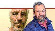 אהוד ברק לשעבר ראש ממשלת ישראל והרמטכל, יושב ראש מפלגת ישראל דמוקרטית עם המיליארדר ג'פרי אפשטין | עיבוד צילום: שולי סונגו ©