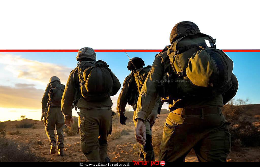 לוחמי צהל בפעילות בשטח על הגבול | צילום: דובר צהל | עיבוד צילום: שולי סונגו ©