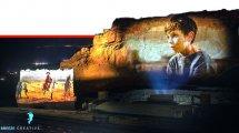 מצדה המיתולוגית במופע אור-קולי ענק של מצדה קרני לייזר, מוסיקה ואופרת הרוק| צילום: בריז קריאייטיב | עיבוד צילום ממחושב: שולי סונגו©