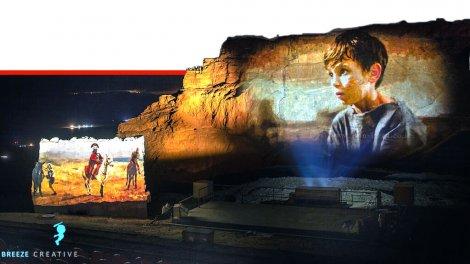 מצדה המיתולוגית במופע אור-קולי ענק של מצדה קרני לייזר, מוסיקה ואופרת הרוק  צילום: בריז קריאייטיב   עיבוד צילום ממחושב: שולי סונגו©