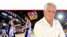 פרופ' מיכאל (מיקי) בר-אלי מאוניברסיטת הנגב | ברקע: כדורסלני נבחרת העתודה של ישראל בכדורסל - ים מדר, דני אבדיה | צילום: מזל שופן | FIBA | עיבוד צילום ממחושב: שולי סונגו©