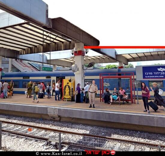 תחנת הרכבת הראשית של תל אביב ב-תחנת הרכבת תל אביב סבידור-מרכז בה ממוקמת מחלקת האבידות של רכבת ישראל   צילומים: דוברות רכבת ישראל  עיבוד צילום: שולי סונגו©