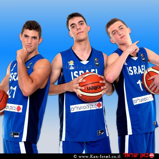 כדורסלני נבחרת העתודה של ישראל בכדורסל: ים מדר, דני אבדיה | צילום:| FIBA | עיבוד צילום ממחושב: שולי סונגו©