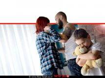 ילד בסיכון עם דובי ברקע: ההורים בעימות אלים   עיבוד צילום ממחושב: שולי סונגו©