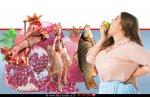 אוכלת תפוח ברקע: דג, עוף, בשר, רימון - נתוני הצריכה של המאכלים הפופולריים בראש השנה | עיבוד צילום ממחושב: שולי סונגו©