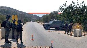 שוטרי משמר הגבול במסגרת סגר בשטחי יהודה ושומרון וסגירת המעברים ברצועת עזה| צילום: משטרת ישראל, מגב | עיבוד צילום ממחושב: שולי סונגו