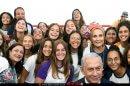 ראש הממשלה בנימין נתניהו חונך בית הספר למצוינות על שם יוני נתניהו זכרו לברכה עם תלמידות האולפנה, באולפנת השומרון אורט באלקנה | צילומים: חיים צח, לעמ