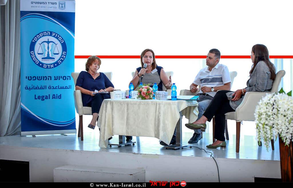 משתתפים בדיון של הכנס ראשון מסוגו שהתמקד בילדים בסיכון בחברה הערבית בחיפה | צילום: דוברות משרד המשפטים | עיבוד צילום ממחושב: שולי סונגו©
