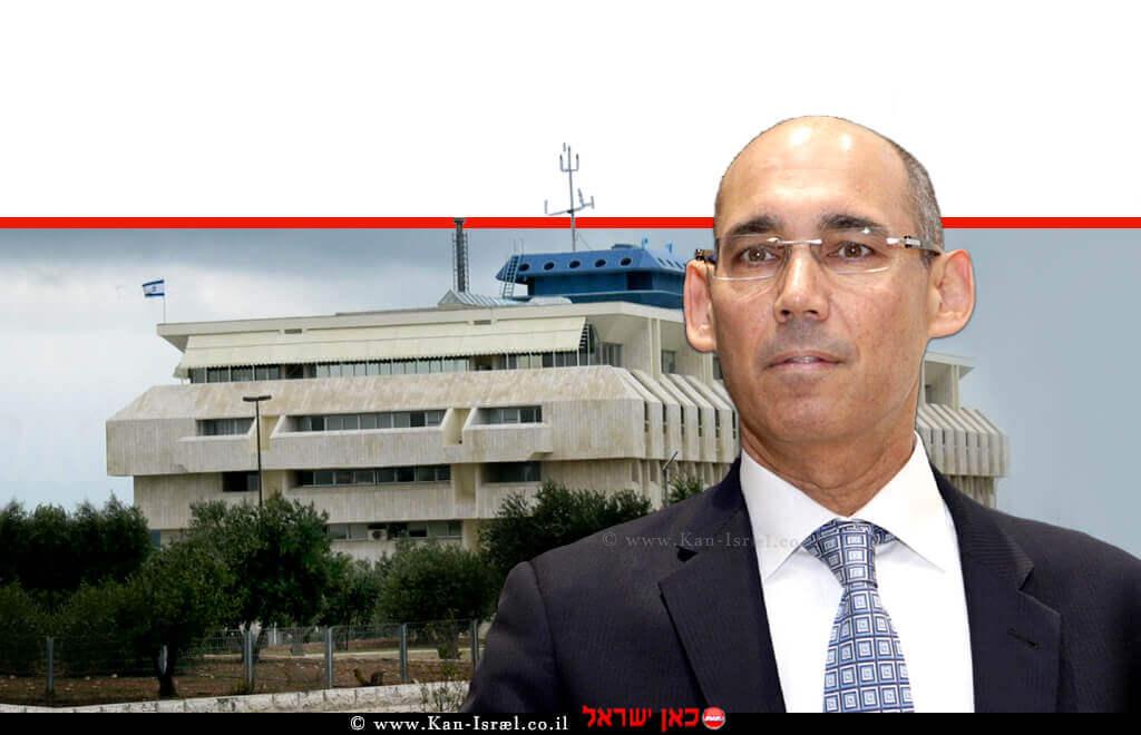 פרופסור אמיר ירון נגיד בנק ישראל ברקע: בניין בנק ישראל | עיבוד צילום ממחושב: שולי סונגו©