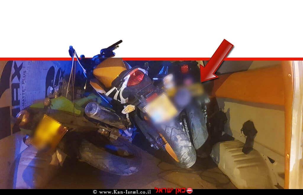 רכב ואופנועים מארגון הצלה שנגנבו על ידי תושב הכפר הפלסטיני ברדלה | צילום: דוברות המשטרה | עיבוד צילום ממחושב: שולי סונגו©