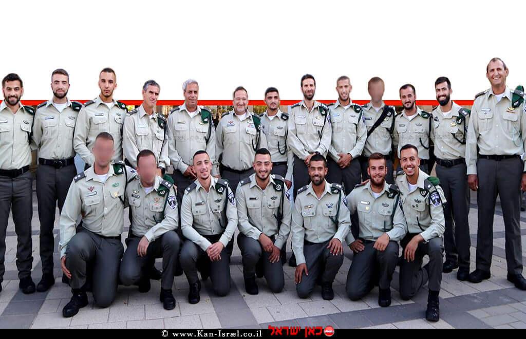 משמר הגבול: 14 קצינים חדשים הושבעו אמונים למשטרת ישראל | צילום: דוברות משטרה | עיבוד ממחושב: שולי סונגו©