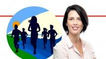 יעל רון, מנכלית 'אשכול רשויות גליל מערבי' | רקע לוגו: מרוץ חצי מרתון הגליל 19 | עיבוד ממחושב: שולי סונגו©