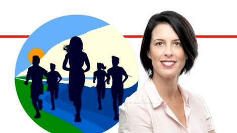 יעל רון, מנכלית 'אשכול רשויות גליל מערבי'   רקע לוגו: מרוץ חצי מרתון הגליל 19   עיבוד ממחושב: שולי סונגו©