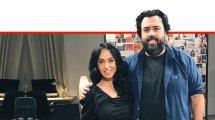 העיתונאי רוני קובן עם הזמרת ריטה | עיבוד ממחושב: שולי סונגו©