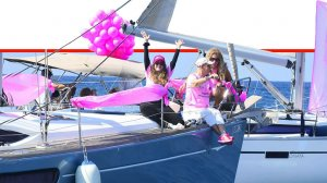 משט יאכטות במרינה הרצליה לציון חודש המודעות לסרטן השד בהשתתפות נשים מתמודדות ומחלימות | עיבוד צילום ממחושב: שולי סונגו©