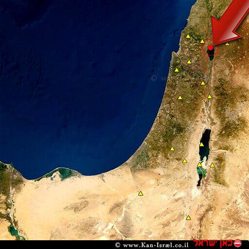 מוקד רעש האדמה בישראל רעידות אדמה אתמול | עיבוד ממחושב: שולי סונגו©