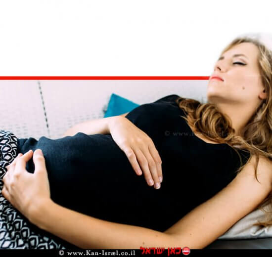 אישה בהיריון, ישנה | עיבוד ממחושב: שולי סונגו©