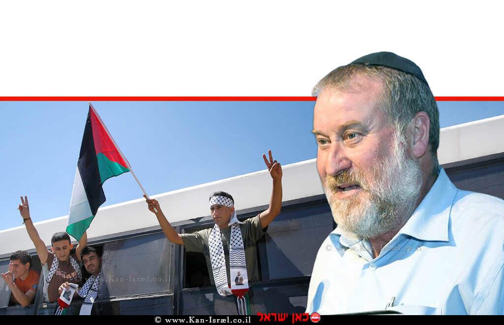 דר' אביחי מנדלבליט היועץ המשפטי לממשלה | רקע אסירים ביטחוניים פלסטינים משוחררים | עיבוד ממחושב: שולי סונגו©