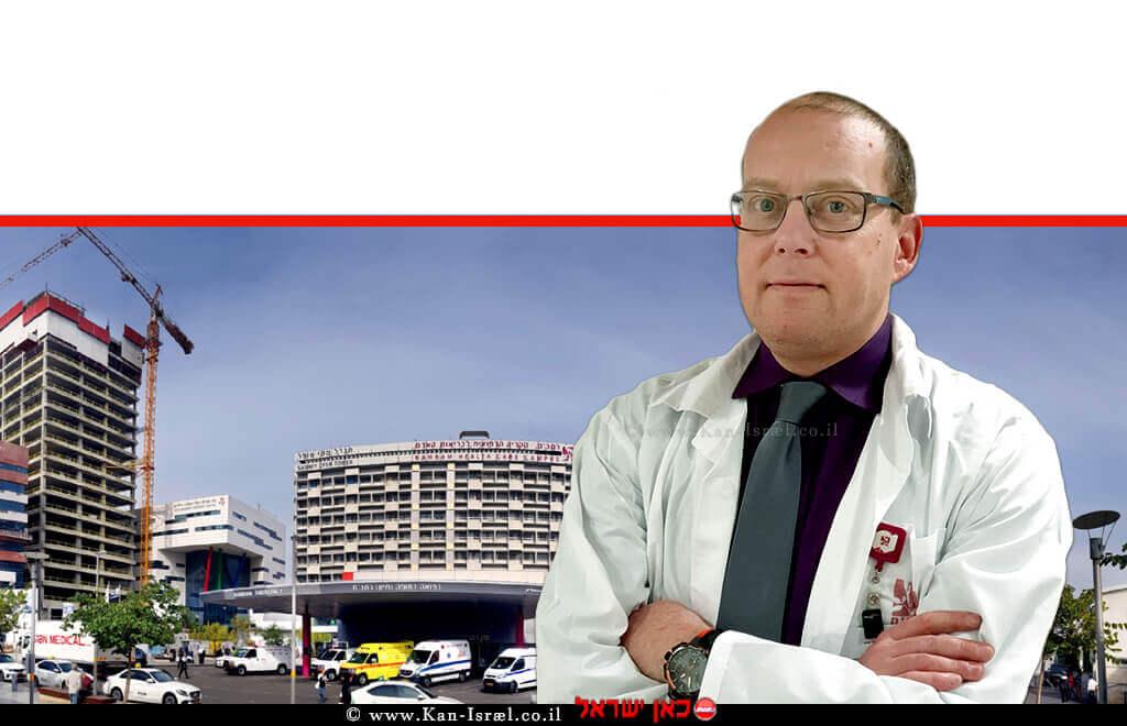 דר' עידו פלדור מ'רמבם' מזכיר האיגוד הנוירוכירורגי העולמי ברקע: בית חולים רמבם  צילום: פיוטר פליטר   עיבוד: שולי סונגו©