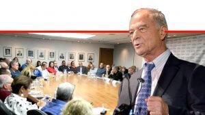 עורך דין אוריאל לין נשיא איגוד לשכות המסחר בכנס חוק זכויות הסוכן – במבחן הזמן, בבית לשכת המסחר בתל אביב | צילום: יאיר שגיא |עיבוד ממחושב: שולי סונגו©