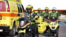 צוותי חירום של מדא עם כלי רכב | צילום: מדא | עיבוד ממחושב: שולי סונגו©