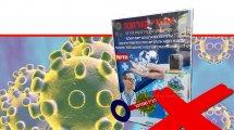 זהירות, שימוש בתכשירי חיטוי לגוף האדם שאינם רשומים כתרופה במשרד הבריאות   צילום: משרד הבריאות   עיבוד ממחושב: שולי סונגו©