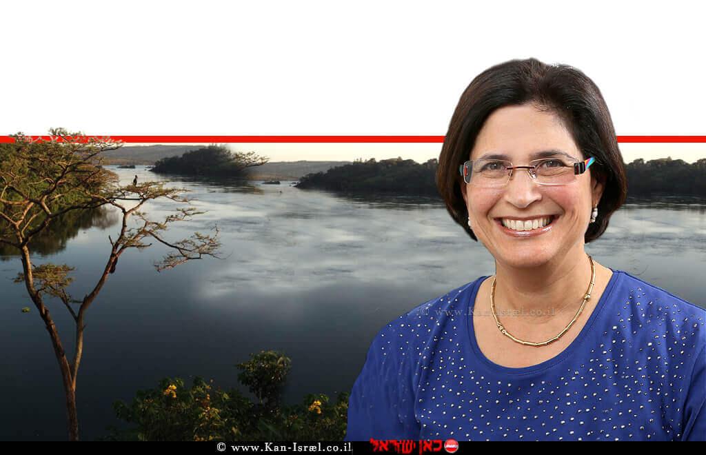 דר' עירית חרמש, רופאה בכירה במכון, של מרפאת המטיילים ברמבם | ברקע נהר שוצף באפריקה | צילום: דר' אפי הלפרין | עיבוד ממחושב: שולי סונגו©
