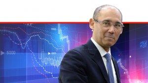 פרופ' אמיר ירון, נגיד בנק ישראל ב-רקע גרפים | עיבוד ממחושב: שולי סונגו©