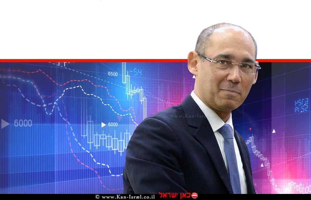 פרופ' אמיר ירון, נגיד בנק ישראל ב-רקע גרפים   עיבוד ממחושב: שולי סונגו©