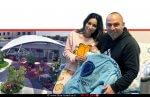 יולדת הילה (אואד) ניסטל ובעלה מומו מחדרה, שילדה בן שנולד באותו תאריך הלידה של אייל בעלה המנוח ב'מרכז הרפואי הלל יפה' | עיבוד ממחושב: שולי סונגו©