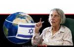 דליה דוֹרְנֶר נשיאת מועצת העיתונות ברקע: כדור הארץ עם מסכת מגן מפני Covid-19 | נגיף הקורונה | עיבוד צילום ממחושב: שולי סונגו©