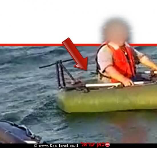 תושב כרמיאל שחולץ על ידי השיטור הימי ממעמקי אגם הכינרת |צילום: דוברות המשטרה | עיבוד צילום: שולי סונגו ©