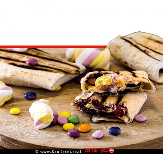 טורטיה סמורס במילוי מרשמלו ושוקולד של המותג מאסטר שף | צילום: אפיק גבאי | עיבוד צילום: שולי סונגו ©