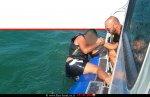 מבצע חילוץ של רוכב אופנוע ים שנפל בכינרת על ידי השיטור הימי של משטרת ישראל | צילום דוברות המשטרה