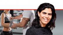 יעל ארד, חברת הנהלת הוועדה המקצועית של הוועד האולימפי בישראל, צילום: מפייסבוק | ברקע: הדמייה של מאמן ומתאגרפת | עיבוד צילום: שולי סונגו ©