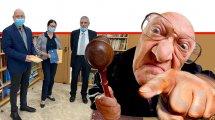 כבוד השופט (בדימוס) אורי שהם, נשיאת בית המשפט העליון, כבוד השופטת אסתר חיות שר המשפטים, חבר כנסת אבי ניסנקורן במעמד הגשת הדוח השנתי של נציבות תלונות הציבור על שופטים | רקע הדמיית שופט |צילום: הרשות השופטת | עיבוד צילום: שולי סונגו ©