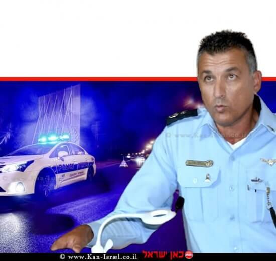סגן ניצב אילן שושן מהיום מפקד תחנת משטרת אשדוד במקום סנצ שמעון פורטל | צילום: דוברות המשטרה | עיבוד: שולי סונגו ©