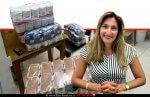 עורכת דין יסמין נחום מנכלית האגודה לבריאות הציבור, ברקע: תרומות סלי מזון | צילום: רון ירקוני יחסי ציבור | עיבוד: שולי סונגו ©