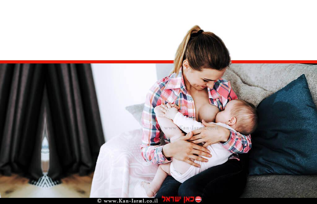 אישה מניקה את תינוקה   עיבוד צילום: שולי סונגו ©