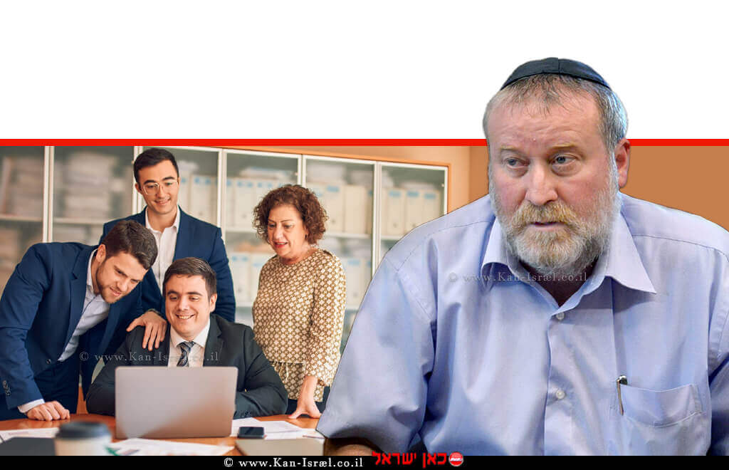 דר' אביחי מנדלבליט, המשמש ממלא מקום בפועל של פרקליט המדינה | ברקע: עבודת צוות במשרד עורכי דין | עיבוד: שולי סונגו ©